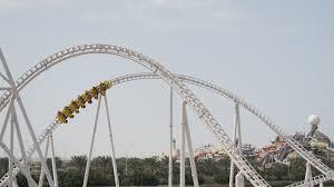 in abu dhabi roller coaster flying aces coaster building stories in steel