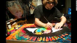 painting allows blind artist to see a world of color cnn