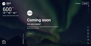 kipton beautiful and creative website template for coming soon