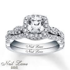 glamorous neil lane rings at kays jewelers kay neil lane bridal set 1 5 8 ct tw diamonds 14k white gold