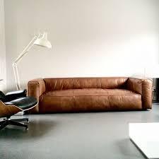 Fulham Leather Sofa Samengestelde Bruine Lederen Hoekzetel Cognac Kleur Brown