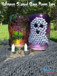 halloween glass jars diy halloween stained glass mason jars craft