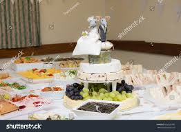 wedding cake made of cheese wedding buffet wedding cake made cheese stock photo 658250980