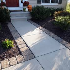 total yard makeover on a microscopic budget concrete walkway