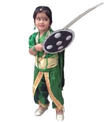 rani luxmi bai as manu fancy dress costumes with all required
