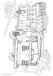 american lafrance fire engine coloring page