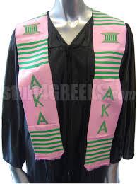 alpha kappa alpha kente graduation stole