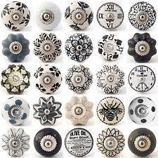black ceramic cabinet knobs black white grey vintage ceramic knobs drawer pull cupboard door