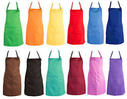 tablier de cuisine uni womens plain womens cooking catering work apron tabard with