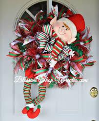 christmas wreath elf wreath elf christmas wreath deco mesh