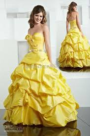 yellow wedding dress yellow gown quinceanera dress wedding gown prom party