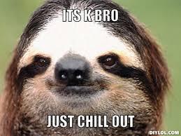 Sloth Meme Generator - calm down bro meme generator image memes at relatably com