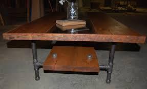 Hardwood Coffee Table Yellow Chair Market Wood Glass U0026 Pipe Coffee Table