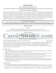 Sample Teacher Resume No Experience Sample Science Teacher Resume Resume For Your Job Application