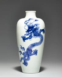 28 Light Blue And White A Blue And White U201cdragon U201d Meiping Kangxi Mark And Period 1662