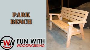 project how to make a park bench with a reclined seat out of 8