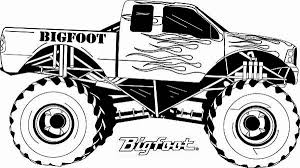 Monster Truck Coloring Pages Project For Awesome Monster Trucks Coloring Truck Pages