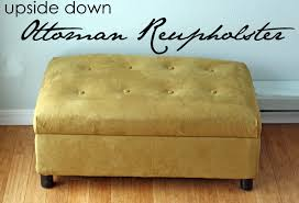 Rolling Ottoman With Storage by Running With Scissors Ottoman Reupholster