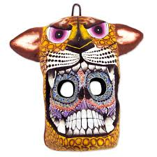 Day Of The Dead Masks Unique Day Of The Dead Ceramic Cat Mask Death Is A Jaguar