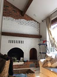 steward of design fireplace before and after