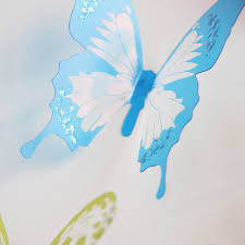 18 pieces 3d butterfly transparent decor wall sticker home