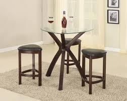 pub style dining room sets with round glass top dining table with