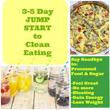 three u2013 five day jump start to clean eating and grocery list