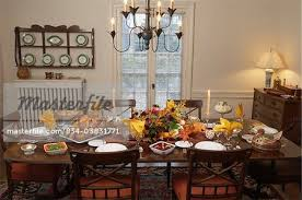 fall theme thanksgiving dinner all of dining table set for
