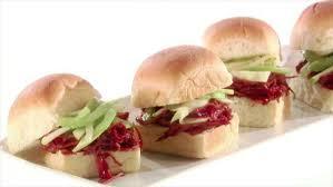 cranberry bbq sauce turkey sliders recipe giada de laurentiis
