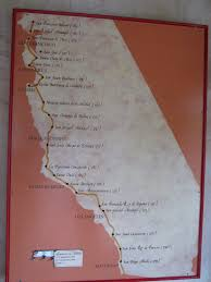 California Missions Map Untrodden Paths Mission Santa Barbara