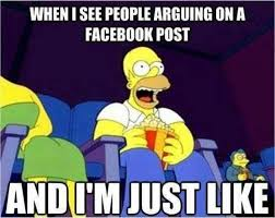 Facebook Post Meme - when i see people arguing on a facebook post meme