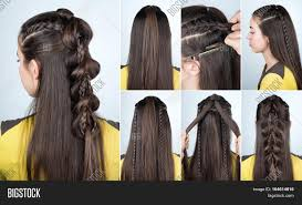 modern hairstyle braid loose image u0026 photo bigstock