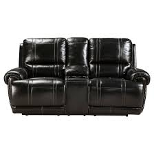 Reclining Sofa With Console by Paron Double Reclining Power Loveseat With Console Ashley