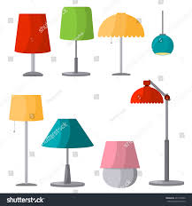 Table And Floor Lamp Set Lamps Furniture Set Light Design Electric Stock Vector 407104456