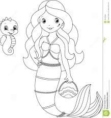 mermaid kids coloring page free download