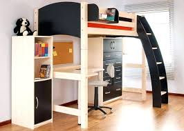 full loft bed with futon size over interior designing black metal