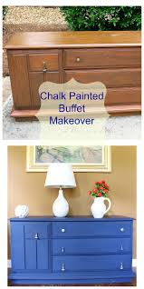 chalk painted buffet makeover 2 bees in a pod