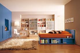bedroom smart idea modern kids room with book shelves and wooden