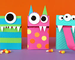 halloween kid craft ideas halloween monster treat bags definitely the inspiration for my
