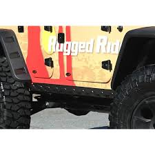 jeep body armor bumper rugged ridge 11651 12 rocker guard kit body armor 4 door 07 16