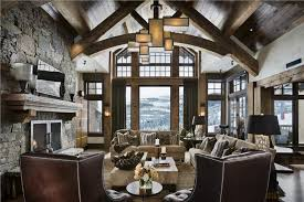 CountryRustic Country Open Living  Family Room Photos - Great family rooms