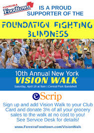 Foundation Fighting Blindness Vision Walk Ferreira Foodtown