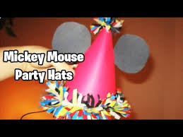 birthday hats how to make birthday hats mickey mouse theme easy tutorial