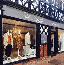 ribbon boutique new window new stock white ribbon boutique