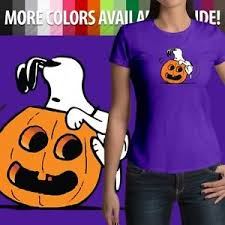 halloween snoopy pumpkin jack o u0027 lantern peanuts junior womens top