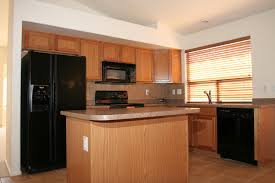 off white kitchen black appliances interior design