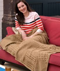 Red Heart Comfort Yarn Patterns Knit Your Cables Afghan Red Heart