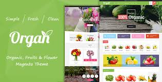 Flowershop Organ Organic Store U0026 Flower Shop Responsive Magento Theme By