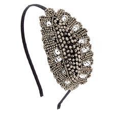 beaded headband vintage silver beaded headband s ca