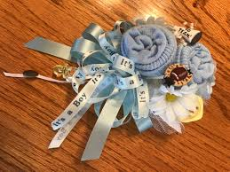 baby sock corsage football theme baby sock baby shower corsages handmade baby sock